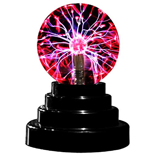 Plasma Ball Light Magic Electric Globe Static Sound Sensory Moon Sensitive Thunder Lightning in Electronic Touch USB or Battery Powered For Parties Decorations Kids Bedroom Toys Home Gifts Nightl Lamp