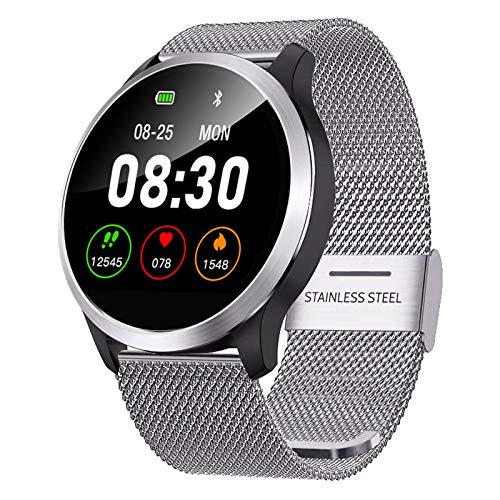 JXFF Smart Watch, Z03 Hombre IP68 Impermeable PPG + ECG Ritmo cardíaco Sphygmomanómetro Reloj Deportivo Bluetooth Smartwatch para Android iOS,A