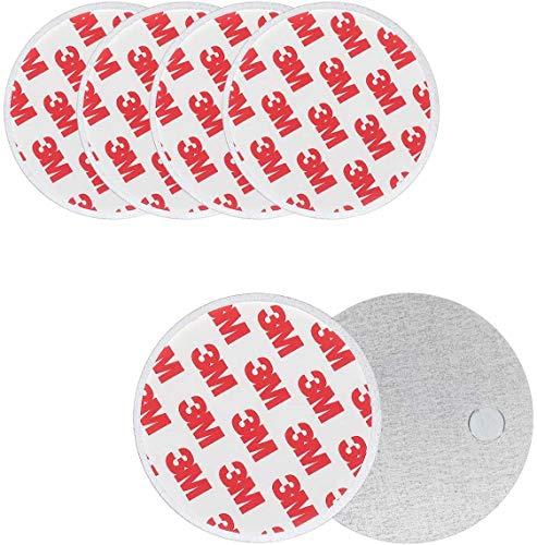 5pcs Soporte magnético para Detector de Humo - Ø 70mm -Rápido Y Fácil De Fijación Kit Montado En El Techo para Alarma De Humo, Sin Necesidad De Taladro No Hay Peligro