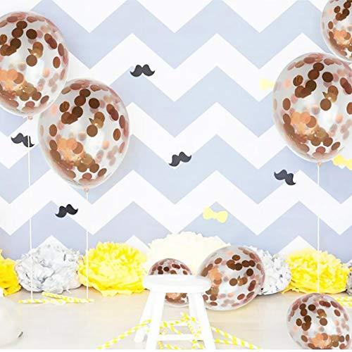 Tumao 10 Stück Mr.& Mrs Latexballon Konfetti Luftballons, Ideal für Hochzeit, Junggesellinnen-Abschied, Hen Party, Hochzeits-Deko. (Roségold) - 3