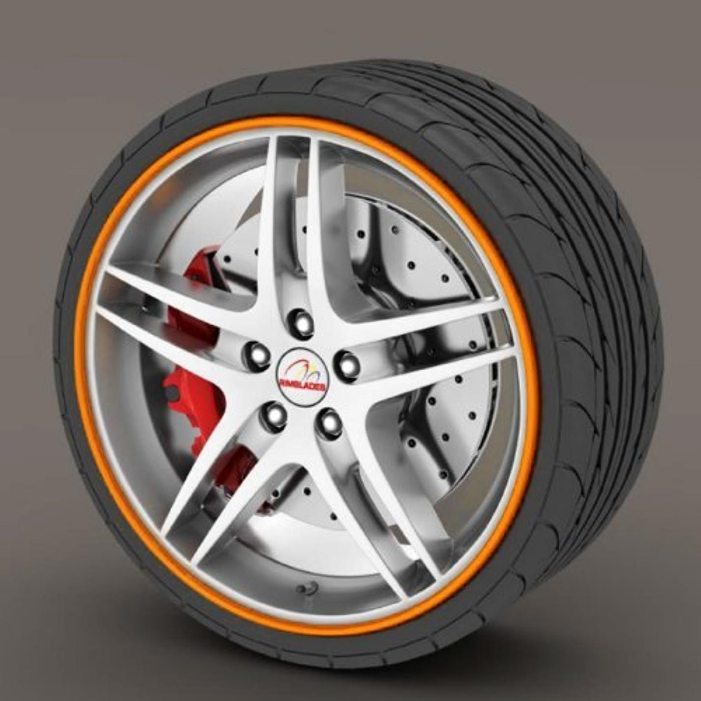 バスルーム掻くリスナーKabis Wheel protector - Orange / Rimblades / Rim Guard チューニングホイール22インチ以下のホイールプロテクターホイールに様々なカラーでポイント