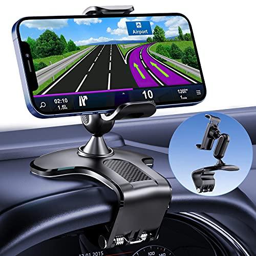 Supporto Cellulare Auto, Regolabile Porta Cellulare per Cruscotto e Parabrezza, 360 Gradi di Rotazione Universale Supporto Cellulare Auto, Compatibile con Telefoni Cellulari da 4.0-7.0 Pollici