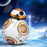 Kikioo Upgrade Intelligent RC BB 8 Robot 2.4G Remote Control with Sound and Dancing Action Figure BB8 Ball Droid Robot BB-8 Smart Electronic Model Toys Birthday Gift for Boys Girl Children