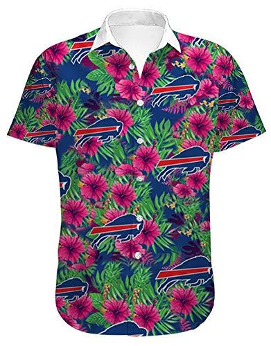 AGLT Camiseta de rugby para hombre de la NFL Buffalo Bill, camiseta de fútbol de verano, camiseta deportiva transpirable, manga corta, paquete de caja de regalo, verde, XL