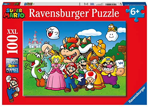 Ravensburger 129928 Super Mario, Puzzle 100 Pezzi XXL per Bambini, Età Raccomandata 6+