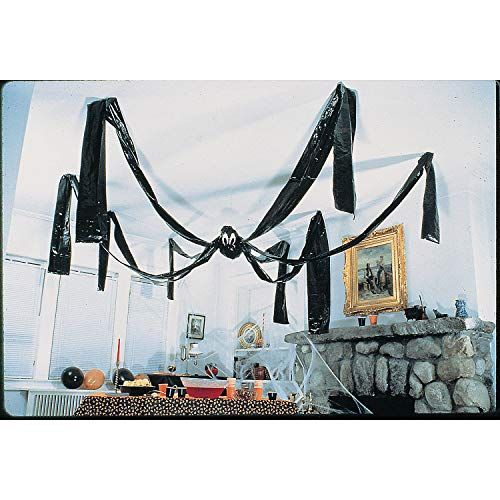 Fun Express Hanging Halloween Plastic Spider, 20 Foot, Black