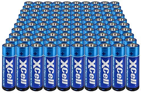 100er Pack Mignon AA LR6 1,5V Super Alkaline Batterie - Hochleistungs- Batterien für maximale Leistung