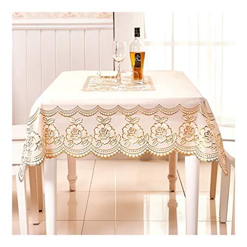 HZTWS Tischdecke Europäische goldene Rose wasserdicht und ölbeständig, geeignet for Esstisch rechteckigen Konferenztisch und andere...