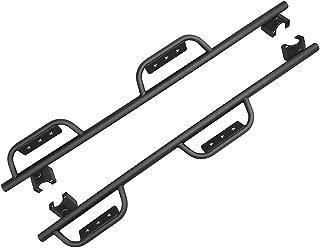 AUTOSAVER88 Running Boards Compatible for 2007-2018 Jeep Wrangler JK, JK Unlimited 4 Door Textured Step Boards Side Steps Nerf Bars Side Guard - Black Powder Coating Finishing(Excl 2018 JL Models)