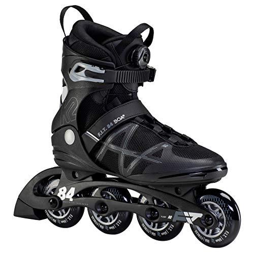 K2 Skates Herren Inline Skate F.I.T. 84 BOA — Black - Silver — EU: 44.5 (UK: 10 / US: 11) — 30F0173