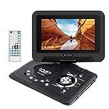 Wimaha Reproductor de DVD Portatil HDMI Todas Las regiones Soporte Gratuito Tarjeta SD Unidad de Disco Duro USB CD DVD Entrada de AV con Pantalla LED de 9 'y Control Remoto de Funciones Completas