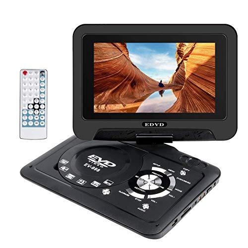"""Wimaha Reproductor de DVD Portatil HDMI Todas Las regiones Soporte Gratuito Tarjeta SD Unidad de Disco Duro USB CD DVD Entrada de AV con Pantalla LED de 9 """"y Control Remoto de Funciones Completas"""