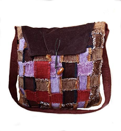 Merryland Handmade Boho Upcycling Damen Handtasche Unikat Einzelstück handgenähte Tasche Bohemian