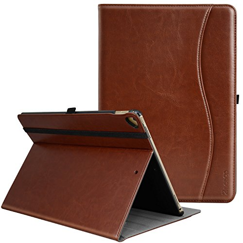 ZtotopCase Case for iPad Pro 12.9 Inch 2017/2015,for Model A1670/A1671/A1584/A1652,Premium Leather Business Folio Case Cover,with Stand,Pocket and Auto Wake/Sleep Function,Multi-angle,Brown