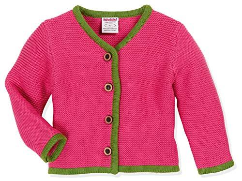 Schnizler Baby-Mädchen Cardigan, Strickjanker Mit Knopfleiste Strickjacke, Rosa (Pink 18), (Herstellergröße: 98)