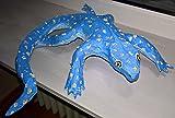 'MODO' Gecko, Pappmaché Figur, Handbemalt, ca. 36 x 38cm