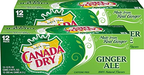 Canada Dry Ginger Ale 12 oz. (355 mL) - 24 Pack