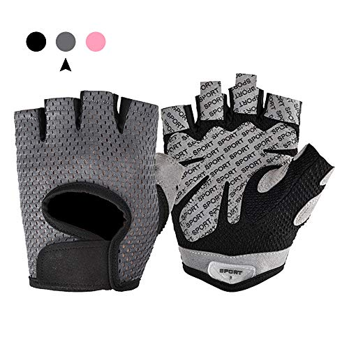 FANXQ handschoenen, fitness-vingerhandschoenen, antislip doek, ademende handschoenen, geschikt voor sport, paardrijden, training, gymtraining en algemene oefeningen.