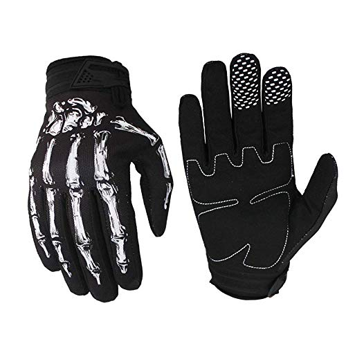 OutMall Cycling Gloves, Skeleton Full-Finger Touchscreen Bike Gloves for Men/Women Bicycle Riding, Motorcycle Racing, Airsoft Paintball, Lifting Fitness, Hunting, Climbing Outdoor Sports (S)
