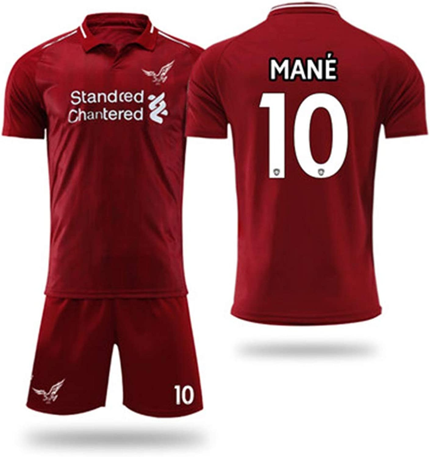 YAXIAO TShirt Men's Football Training Suit ShortSleeved Shorts Liverpool Jersey Home Sportswear TShirt (color   B, Size   2XL)