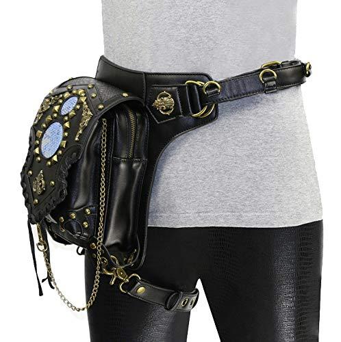 Jxth Cuisse Multi-usages Sac de Taille de Jambe Steampunk Pack Ceinture de Hanche Fanny Messenger Bag Crossbody Multifonctionnel Sacs Fanny pour Femmes