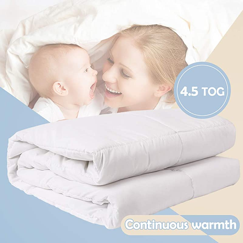 I Baby Baby Duvet Cover Filling Baby Bedding Nursery Quilt Newborn Comforter Microfiber Cover Polyester Filling 48 X 59 Inch 120x150cm For Boys Girls White