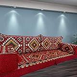 Spirit Home Interiors Arabisch orientalische Majlis Bodenbestuhlung, Bodenkissen, Bodenkissen, Sofa Couch mit Innenfüllungen / SHI_FS253