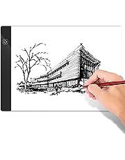 Mesa de Luz a4 para Dibujar Tablero de Dibujo Portátil Ajustable LED Ultradelgada con Cable USB Adecuado para Diseñar,Dibujar y Esbozar Animaciones