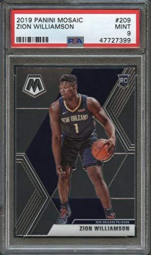 2019 Panini Mosaic #209 Zion Williamson PSA 9 Mint GSM - Basketball Slabbed Rookie Cards