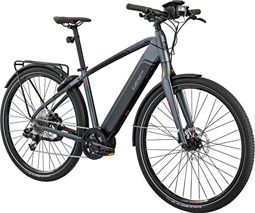 "IZIP E3 Protour with COBI 700C Class 3 Electric Commuter Road Bike with 500W Currie Electro-Drive Centerdrive Motor and 48V, 417Wh Lithium Battery, Gray, 19""/Large"