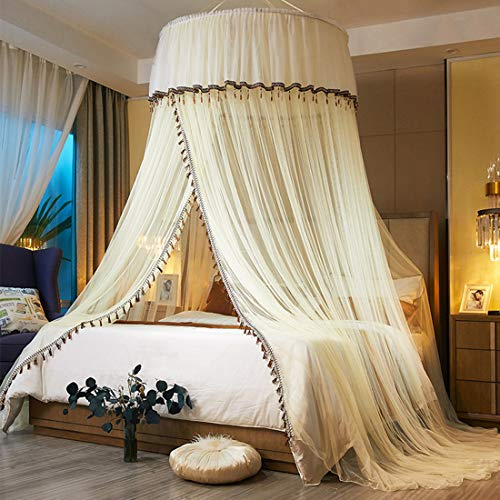 Bed Canopy Gordijn Klamboe Klamboe Bed Canopy bescherming tegen insecten Makkelijke installatie slaapkamer decoratie Dome Princess Room Tent,B