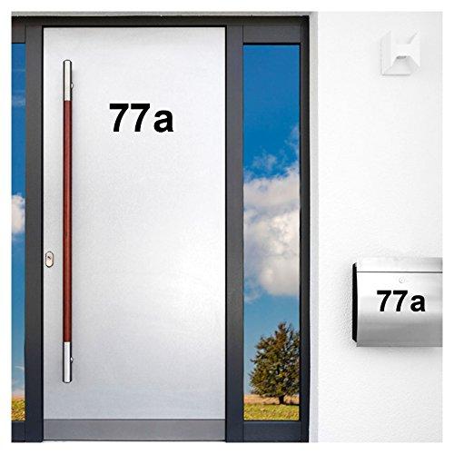 Wandaro Wandtattoo Selbstklebende Beschriftung Hausnummer I schwarz Höhe 8 cm Zeichen 1 I Eingang Aufgang Zahlen Buchstaben Ziffern Tür Türbeschriftung Nr W3396