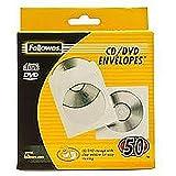 Fellowes 90690 Confezione Buste per CD in Carta, Confezione da 50 Pezzi, Bianco