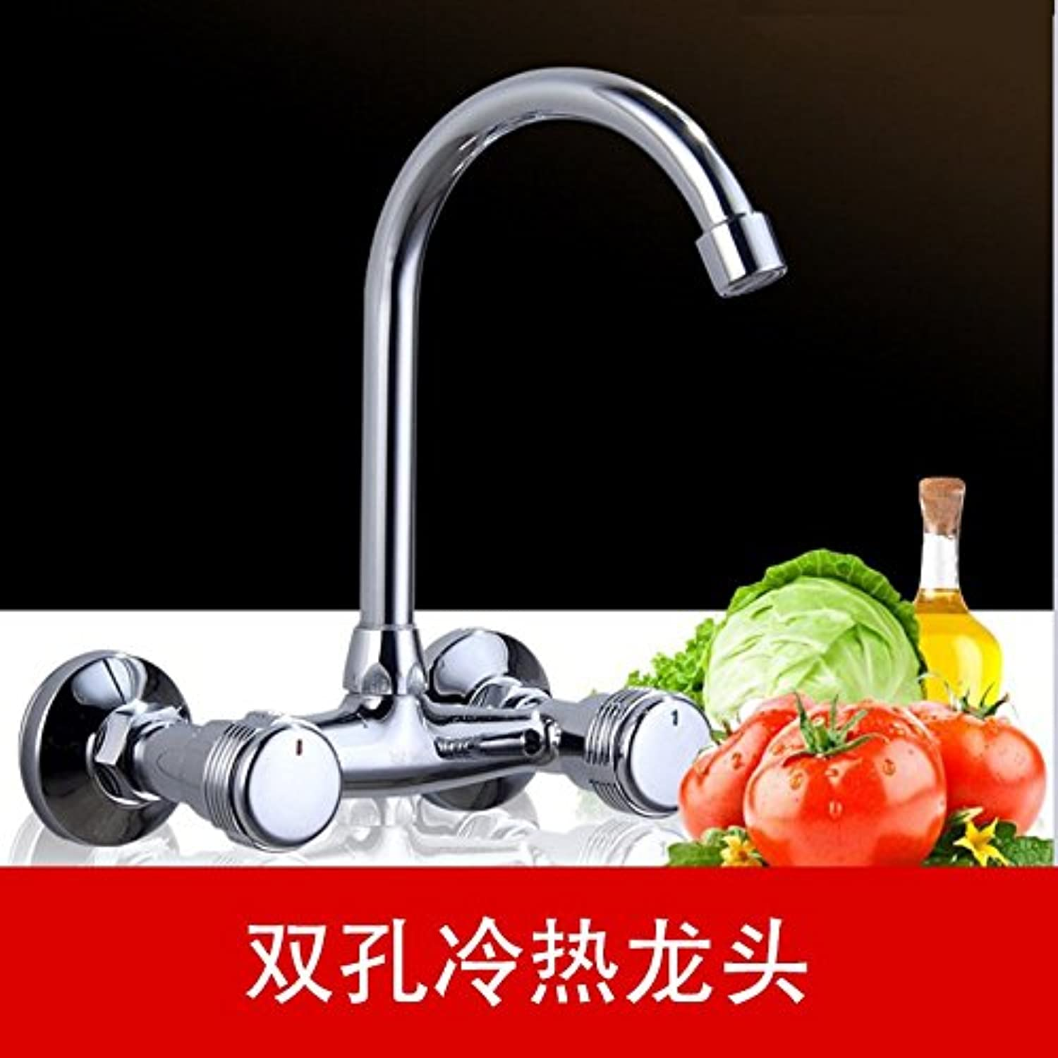 Hlluya Professional Sink Mixer Tap Kitchen Faucet Bath free full brass body into the WALL MOUNTED KITCHEN FAUCET kitchen sink laundry bin double the COLD WATER FAUCET,YT8830