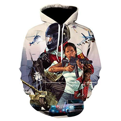 Juego Grand Theft Auto 3D Impreso Sudadera con Capucha Unisex Niños Niñas Niños Ropa Deportiva Manga Larga Street Top Jacket-We-540_XXL
