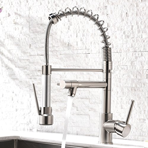 Aimadi Contemporary Kitchen Sink Faucet,Single Handle Stainless Steel Kitchen Faucets