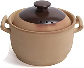 TY&WJ Heat-Resistant Slow Cooking Clay Pot,Not-Stick Stockpot Cookware Healthy Saucepan,Traditional Unglazed Ceramic Casse...