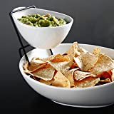 2 Tier Serving Stand,Durable Ceramic Food Display Stand – Chip and Dip, Appetizer Platter - Great...
