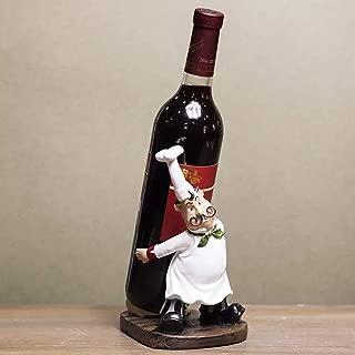 lemonadeus Chef Figurine Italian Chef Theme Statue Wine Holder