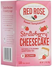 Red Rose Sweet Temptations Naturally Flavored Sweetened Tea (0 Calories) 18 Tea Bags (Strawberry Cheesecake)