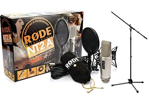 RODE NT2-A DOPPEL GROSSMEMBRAN STUDIO MIKROFON SET + MIKROSTATIV
