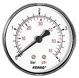 Ferro Industrial 63 mm patraña manómetro posteriores revisiones 4 Bar 1/4