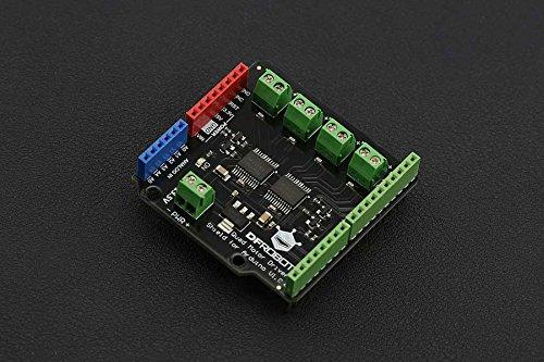DFRobot Quad DC Motor Driver Shield für Arduino, Eine Steuerung von bis zu Vier Gleichstrommotoren mit 8 Pins Gleichzeitig