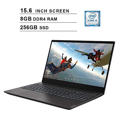 Lenovo 2020 Newest IdeaPad S340 15.6 Inch Laptop, Intel 4-Core i5-8265U up to 3.9GHz, Intel UHD 620, 8GB DDR4 RAM, 256GB SSD, Webcam, Bluetooth, HDMI, WiFi, Windows 10, Black