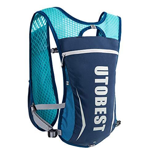UTOBEST Ultraleicht Trinkrucksack 5.5L Laufrucksack, Trinkblase Hydrationspack Rucksack Outdoor für Marathoner Laufen Camping Wandern Joggen