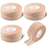 4 Rolls Elastic Tape Adhesive Elastic Bandage Wrap Flexible Stretch Bandages for Sports Ankle, Knee and Wrist Sprains Animal Pets, 1 Inch x 5 Yard