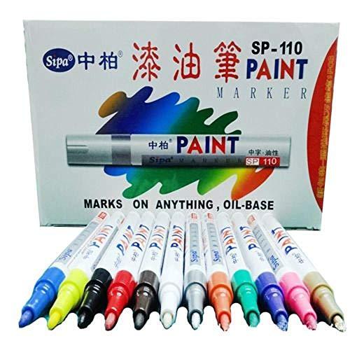12 PCS Color Pinte Marcador Plumas Establecer Fine PionT Coche Dibujo Dibujo Arte Diseño Nuevo