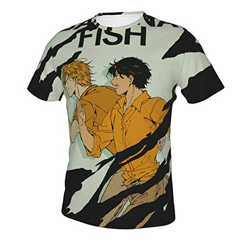 IHHASD Camiseta de manga corta para hombre Ash Lynx Banana Fish Eiji Okumura