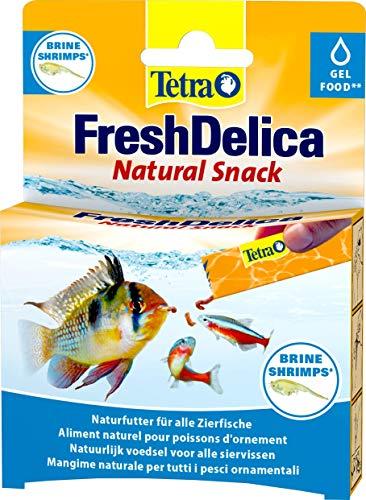 Tetra FreshDelica Brine Shrimps Leckerbissen als Gelfutter für alle Zierfische, 16 x 3g