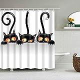 Maus Duschvorhang Cartoon Muster Wasserdicht 3D Niedliche Tiere Duschvorhang mit Haken für Badezimmer Dekor Geschenke-6_180X180cm
